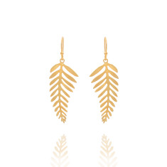 Gold Drop Canopy Earrings