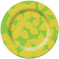 French Bull dinner plate in isis green pattern