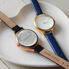 Small Ladies' Watch With Leather Strap