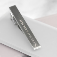 Personalised Coordinate Tie Clip