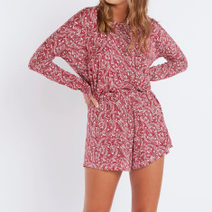 Mono floral long sleeve romper