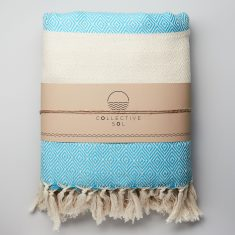 Moroccan Throw in Turquoise