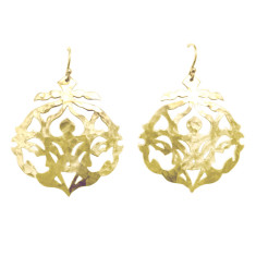 Andalusia drop earrings in 18 kt yellow gold plate