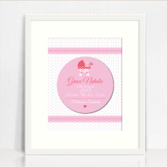 Framed Girls Personalised 3D Birth Print