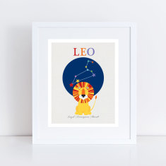 leo the lion zodiac art print