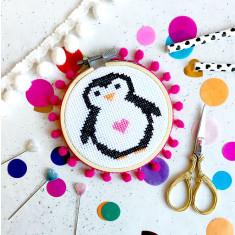 Penelope Penguin Mini Cross Stitch Kit