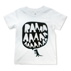 RAAAAA dinosaur t-shirt in black on white