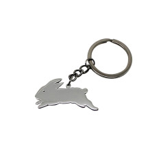 Bunny sterling silver key chain