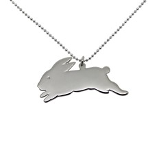 Bunny sterling silver necklace