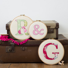 Personalised initial embroidery hoops (set of 3)