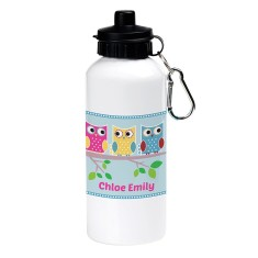Personalised friendly owl drink bottle