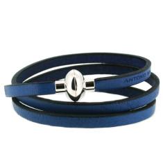 Electric blue rainbow bracelet