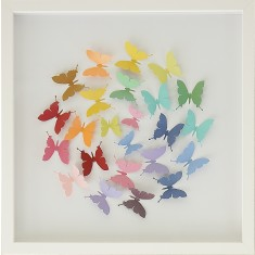 Papercut butterfly rainbow ball artwork