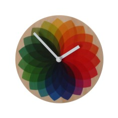 Objectify rainbow fan clock