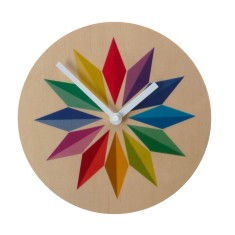 Objectify rainbow gems wall clock