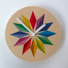 Objectify rainbow gems medium-sized wall clock
