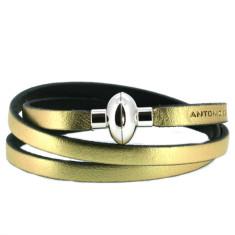 Metallic gold rainbow bracelet