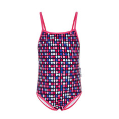 Pink raindrops full-piece bathers