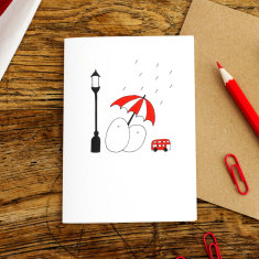Rainy Days greeting card (pack of 6)