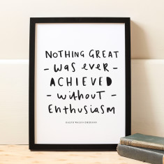 Ralph Waldo Emerson quote print