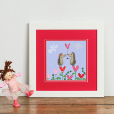 Hedgehugs Love Heart Print