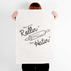 They See me Rollin' Funny Quote Printed tea towel