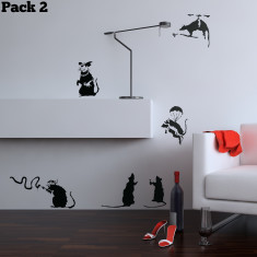 Banksy Rat Pack 2 wall stickers