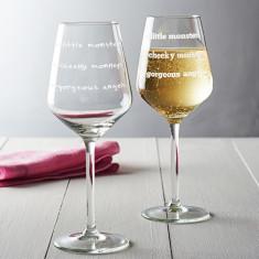 Cheeky Monkeys Wine Glass