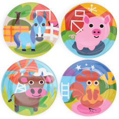 French Bull farm collection kids' plate