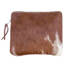Sorrento case in tan & natural cow hide