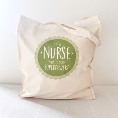 Nurse superpowers tote bag