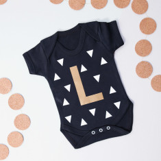 Personalised Initial Baby Grow