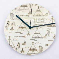Tribal Personalised Wall Clock