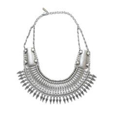Chunky tribal collar spike necklace
