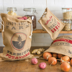 Produce storage sacks (set of 3)
