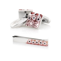 Lillà Gift Set - Cufflinks + Tie Bar