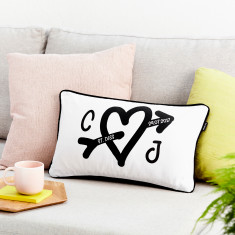 Personalised Heart Boudoir Cushion