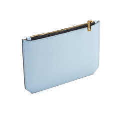 Enn leather pouch (dusty blue)