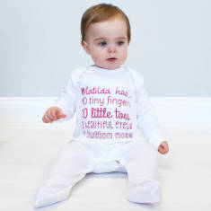Personalised You're So Tiny Baby Onesie