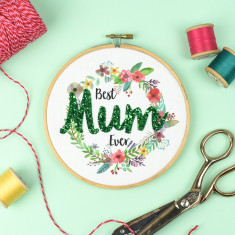 Mothers Day Embroidery Hoop Artwork