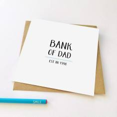 Bank of Dad Father's Day greeting card