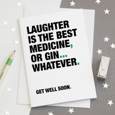 Funny get well soon card for gin lovers