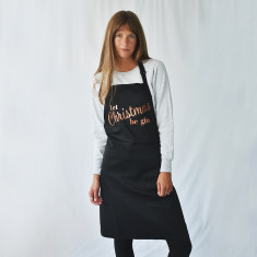 Let Christmas Be Gin Christmas Apron