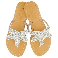 Girls' leather sandals in silver