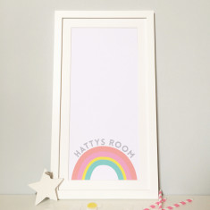 Personalised Baby Girl Rainbow Print