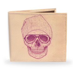 Cool Skull Vegan Leather Mens Wallet