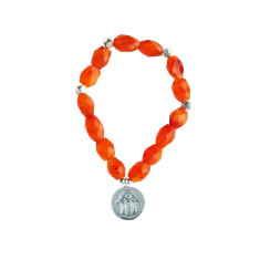 Faceted carnelian bracelet