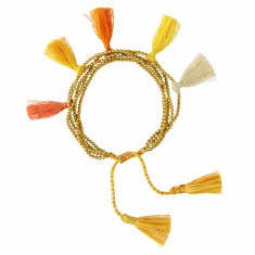 Orange tassel bracelet