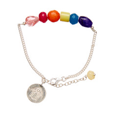 Chakra stone chain bracelet