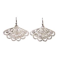 Butterfly wing silver earrings